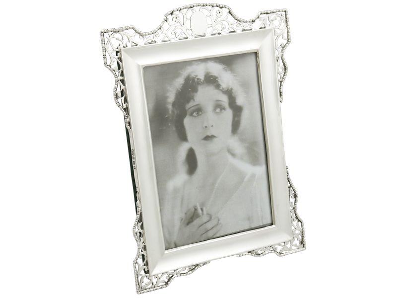 Antique George V Sterling Silver Photograph Frame 1917 Ebay