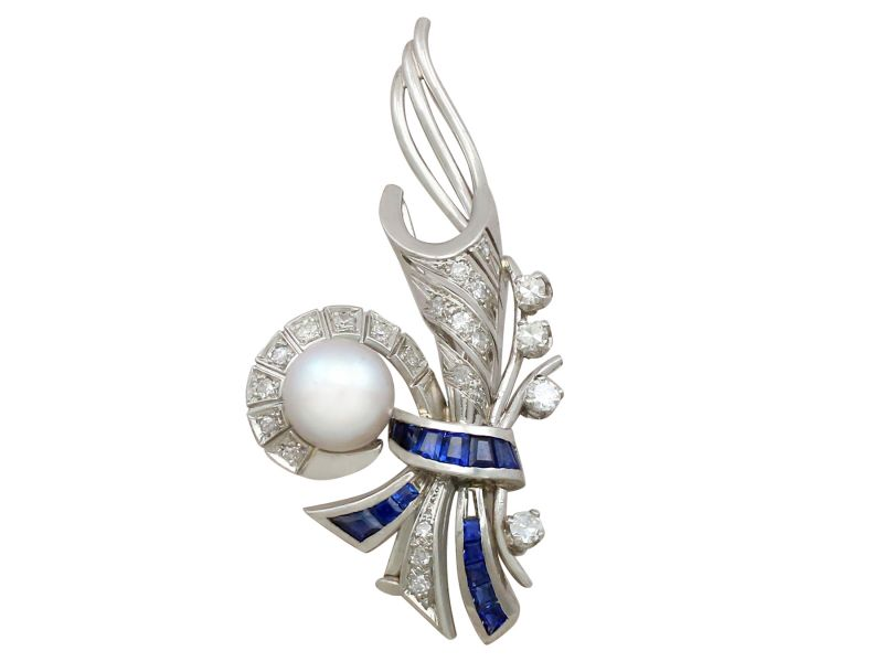 sapphire pin diamond color multi cartier brooch and brooches